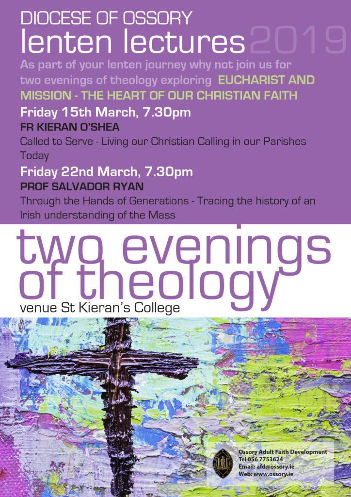 Lenten Lectures - Evenings of Theology @ St Kieran's College