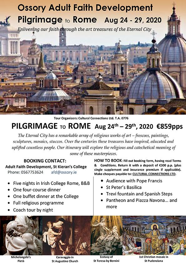 Ossory Pilgrimage to Rome 2020